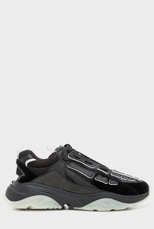 Bone Runner Low-Top Lace-Up Sneakers Black