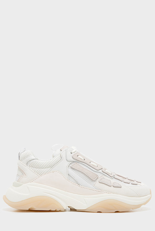 Bone Runner Low-Top Lace-Up Sneakers White
