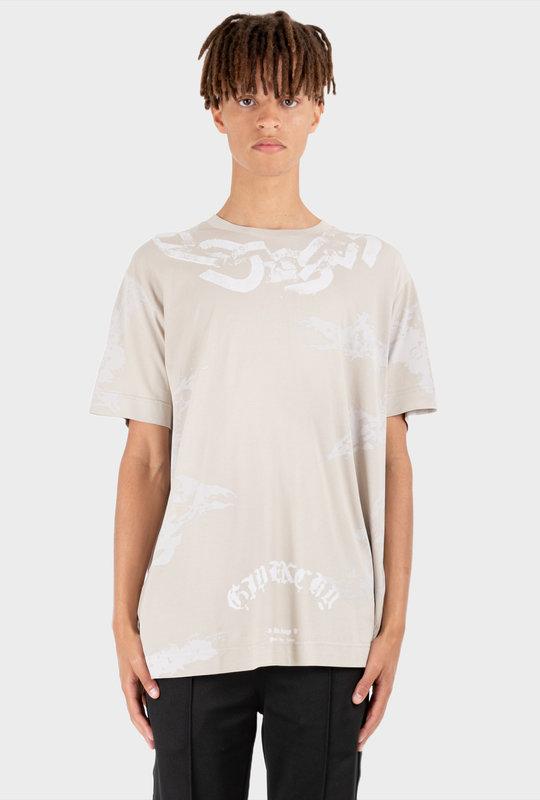Printed Chains T-Shirt Light Grey