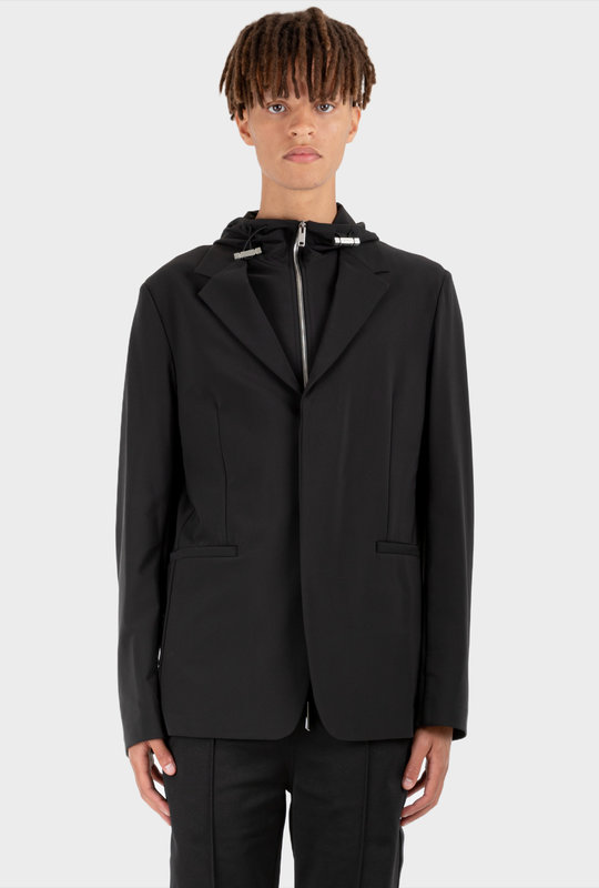 Removable Waistcoat Jacket Black