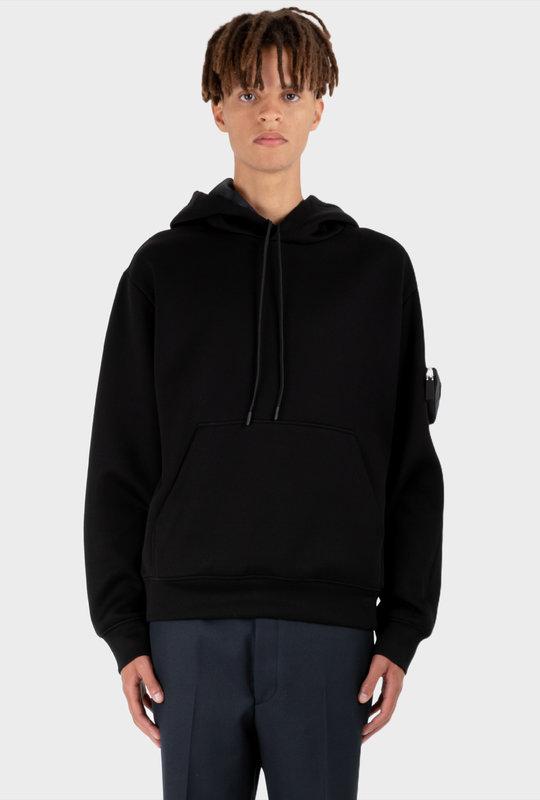 Re-Nylon Triangular Pouch Sweatshirt  Black
