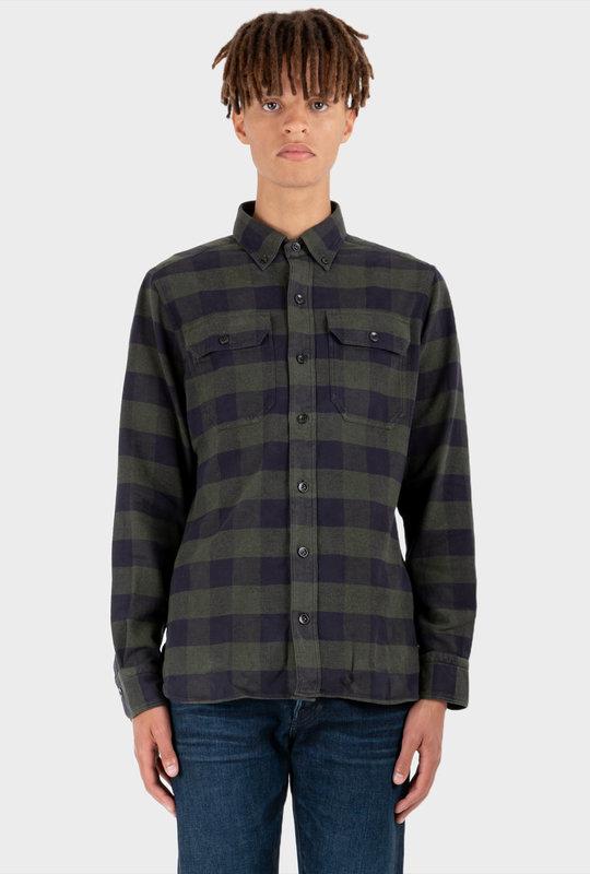Western Check Shirt Khaki Green