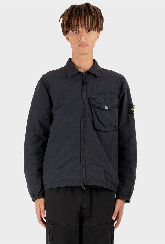 Compass Badge Zipped Jacket Black
