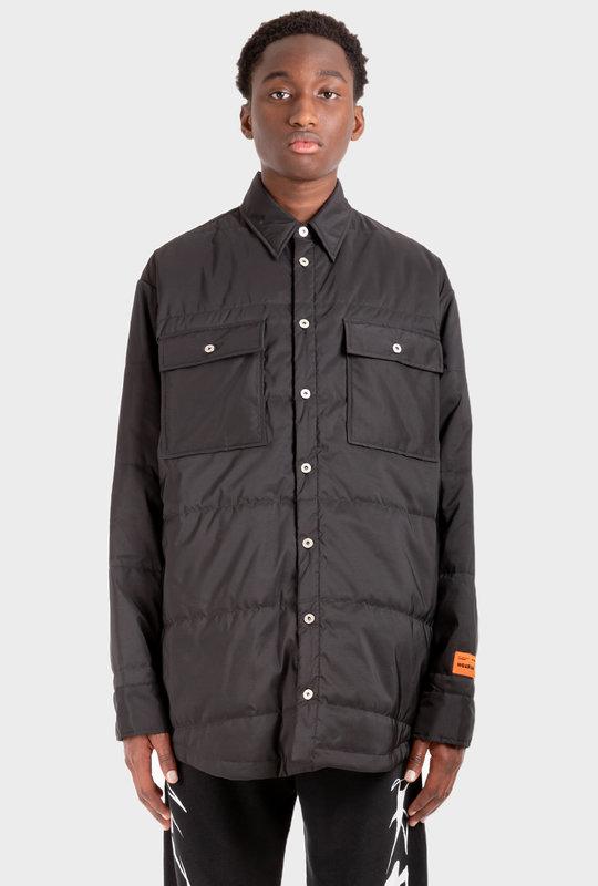 Padded Button Shirt Black