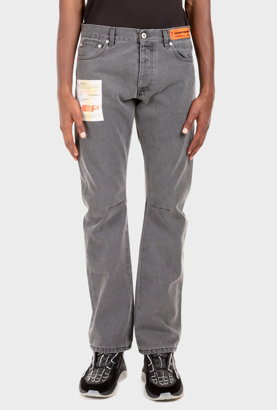 Denim Label Pants Dark Grey
