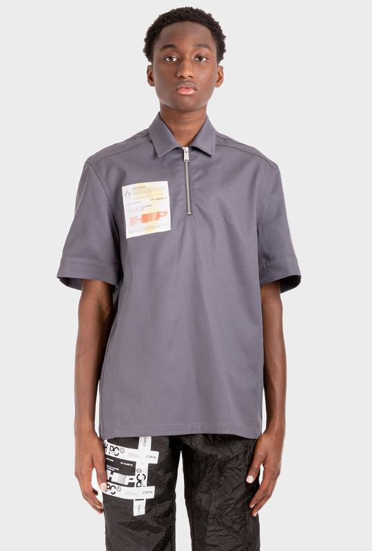 Label Shirt Dark Grey