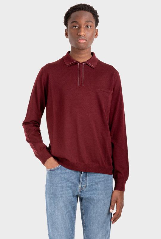 Polo Merino Sweater Red