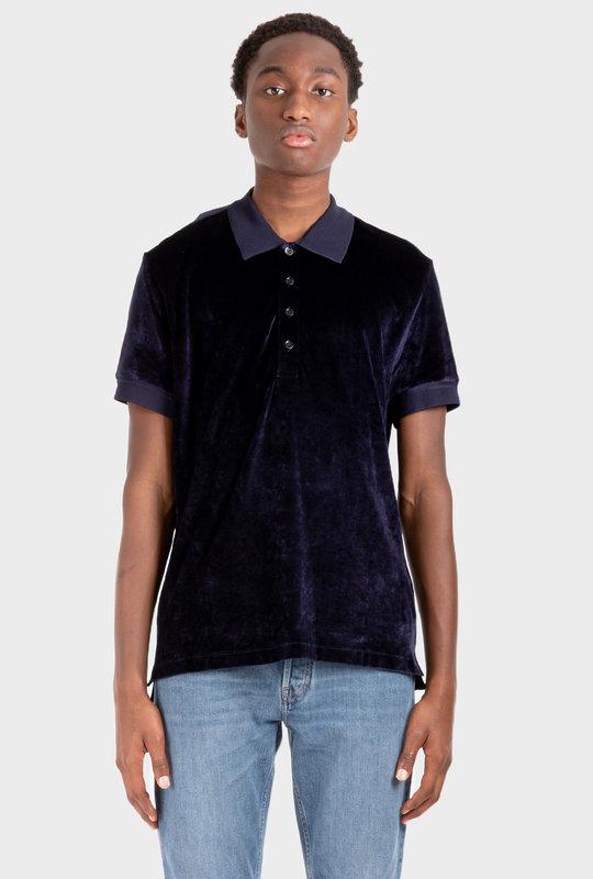 Terrycloth Polo Shirt Black