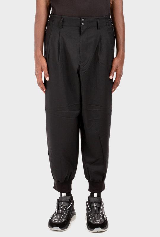 Classic Cuffed Trousers Black