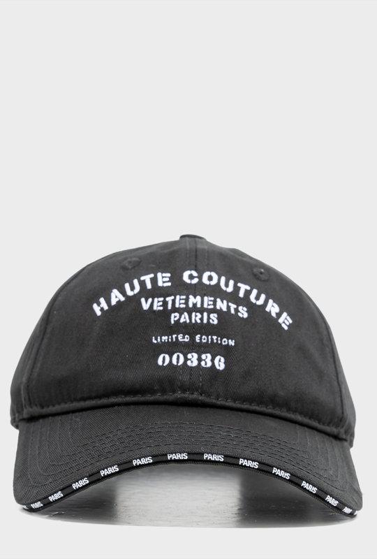 Logo-Print Cotton Cap Black