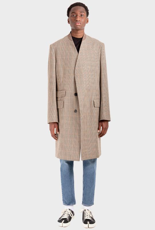 Prince Of Wales-Check Coat Brown