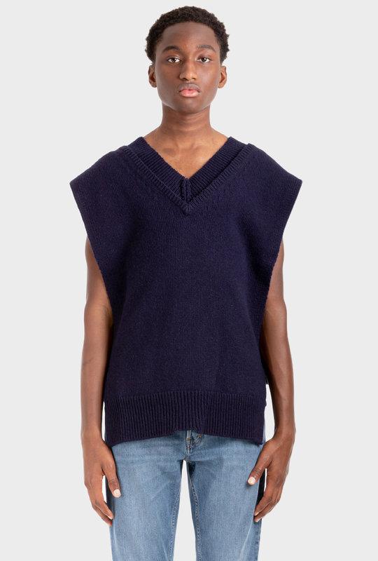 Exposed-Seam Pullover Blue