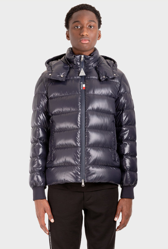 Padded Hooded Jacket Blue