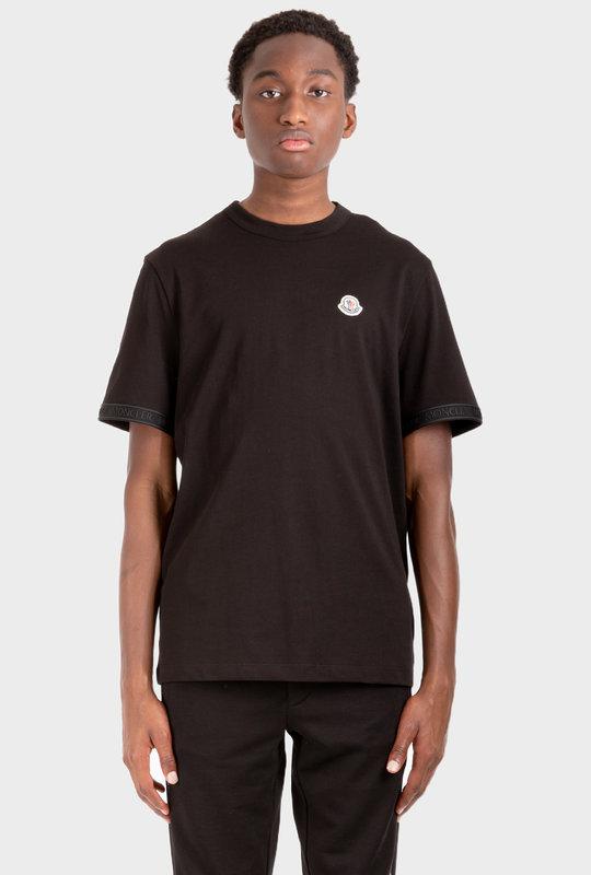 Logo-Patch Short-Sleeve T-Shirt Black