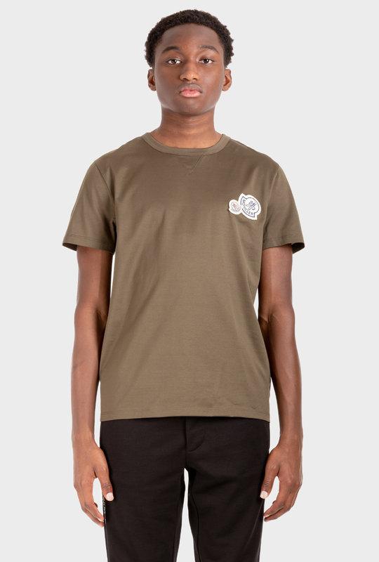 Double-Logo Patch T-Shirt Green