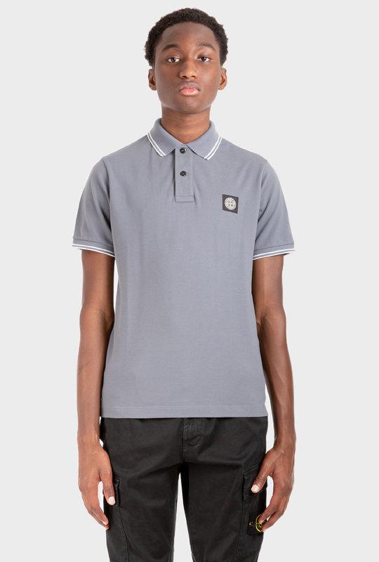 Compass Badge Polo Shirt Blue