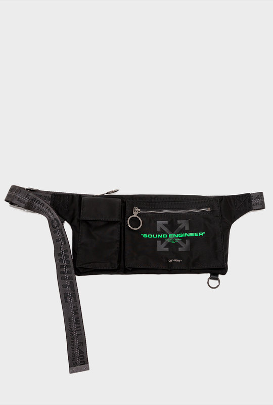 Off White x Pioneer DJ Logo Print Waist Bag Black