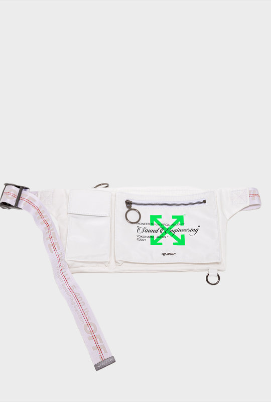 Pioneer DJ c/o Off-White™ Print Waist Bag White