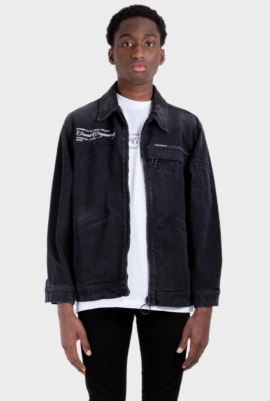 Pioneer denim jacket Black