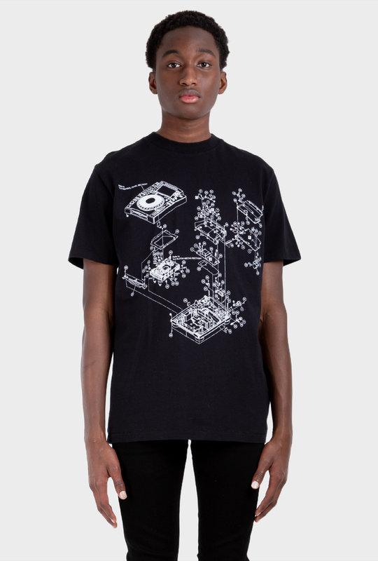 Pioneer painting T Shirt Black