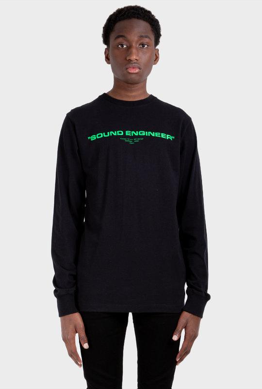 Graphic-Print Long-Sleeve Sweatshirt Black