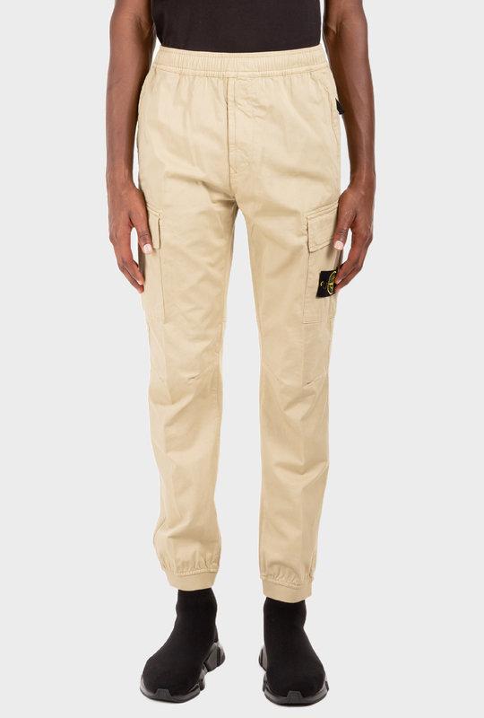 Logo-Patch Cargo Trousers Beige