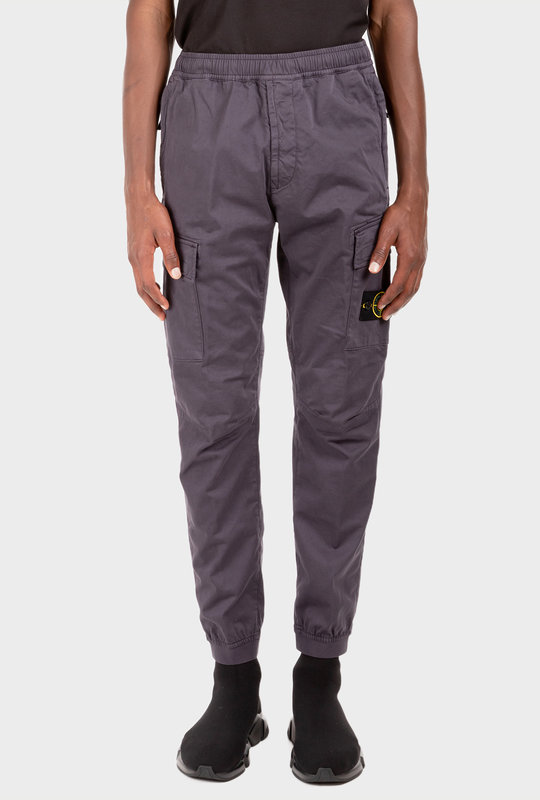 Logo-Patch Cargo Trousers Ink