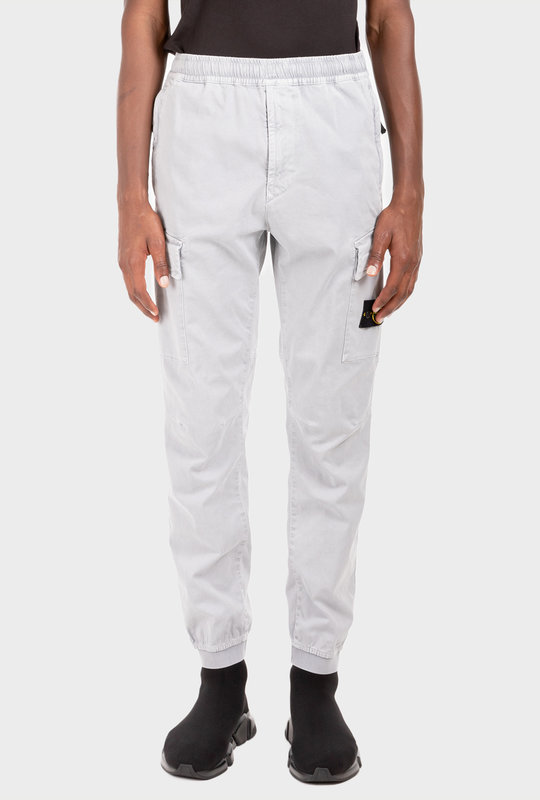 Logo-Patch Cargo Trousers Grey
