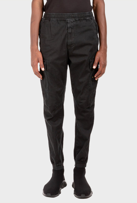 Logo-Patch Cargo Trousers Black