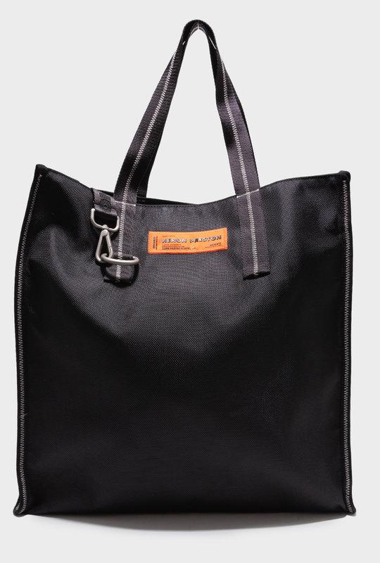 Logo Patch Tote Bag Black