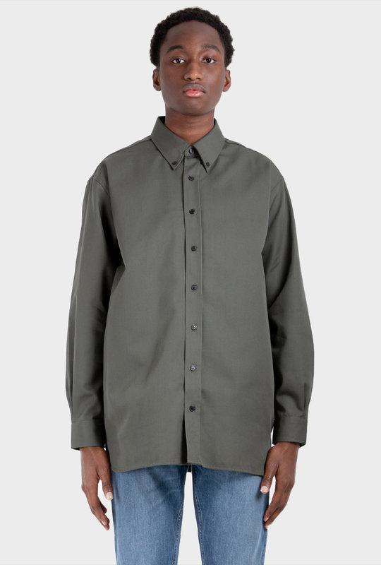 Long Sleeve Shirt Stone Green