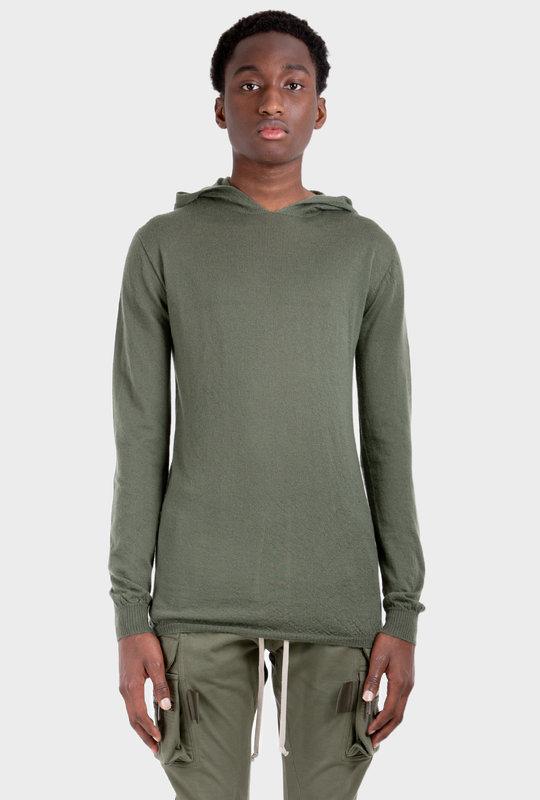 Fine-Knit Hoodie Green