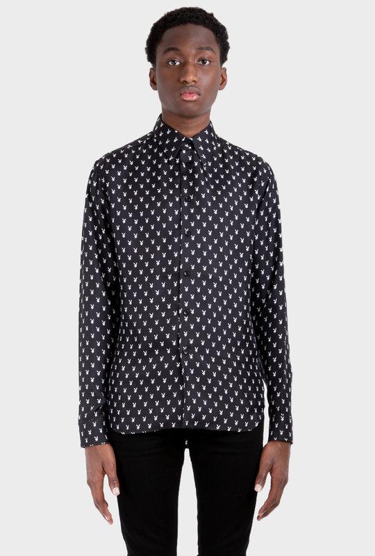 Micro Playboy Long Sleeve Shirt Black