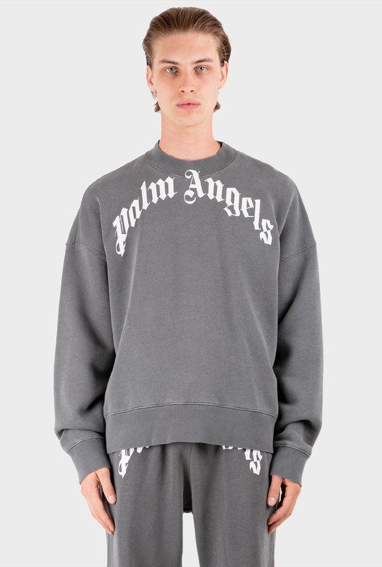 Curved Logo Sweatshirt Grey