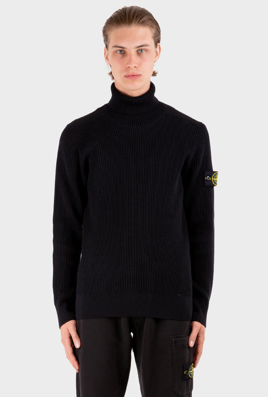 Turtleneck Sweater Blue