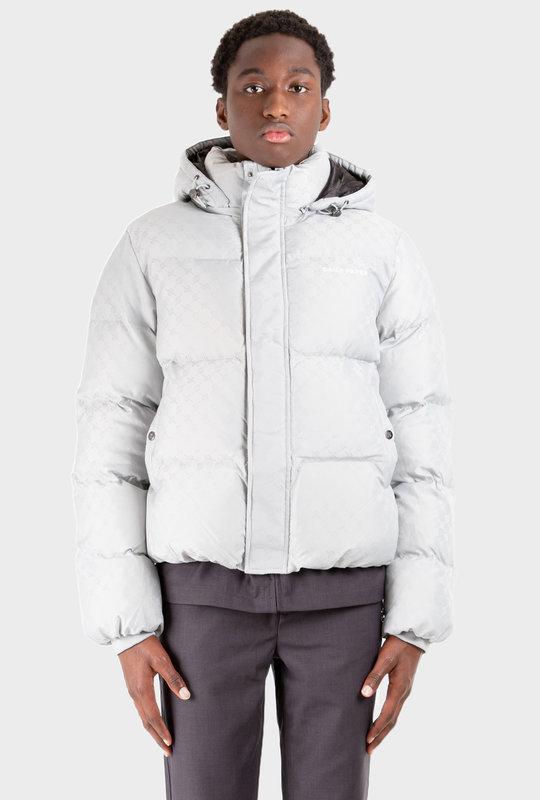 Monogram Lavan Puffer Jacket Grey