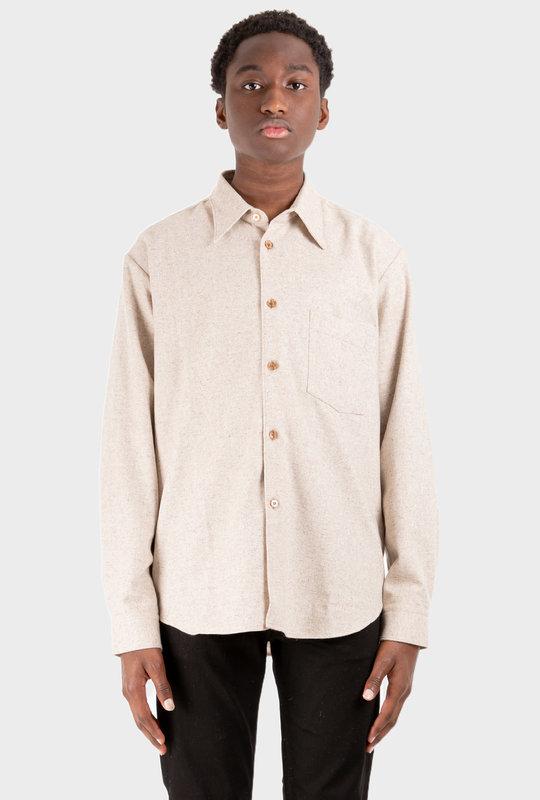 Wool Blend Shirt Beige