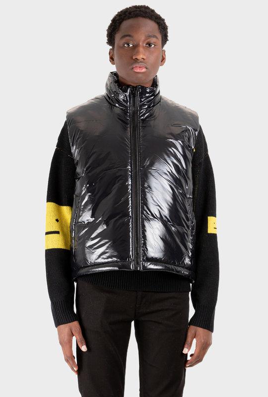 Nylon Puffer Vest Black
