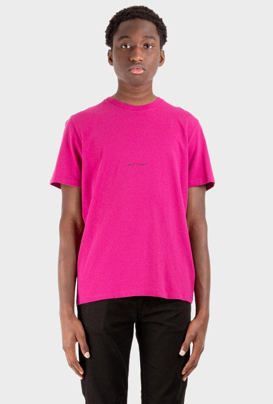 Logo Print T-Shirt Fuchsia