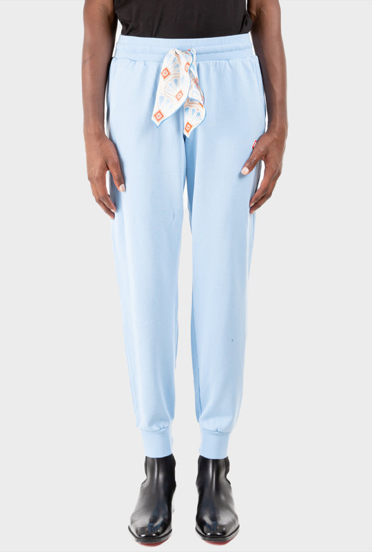 Casa Embroidered Sweatpants Blue