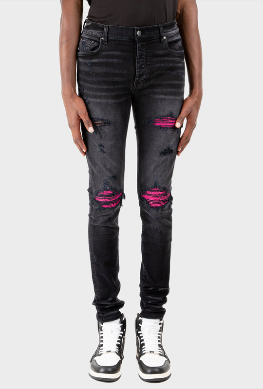 MX1 Leather Jean Cracked Pink