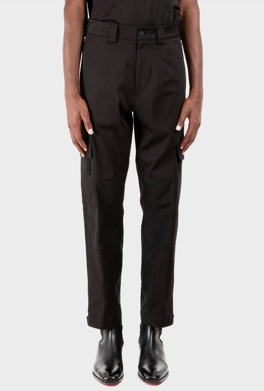 Pressed-Crease Tailored Trousers Black