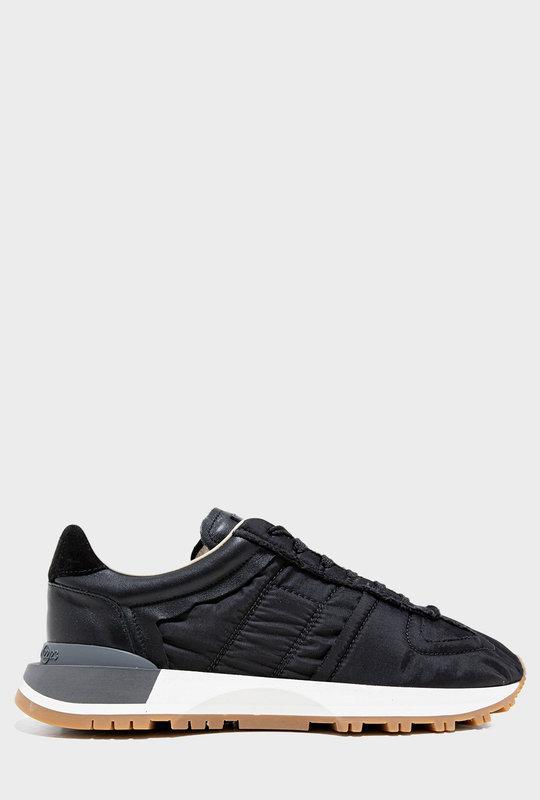 Panelled Low-Top Sneakers Black