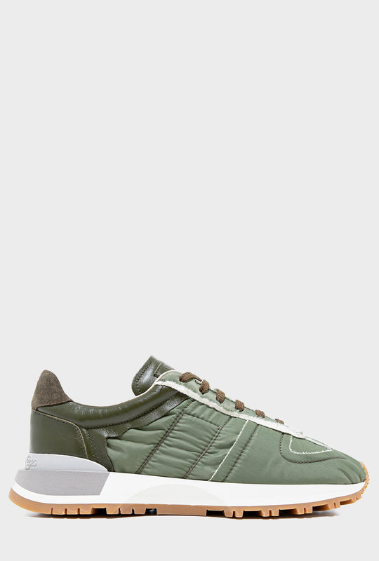 Panelled Low-Top Sneakers Green