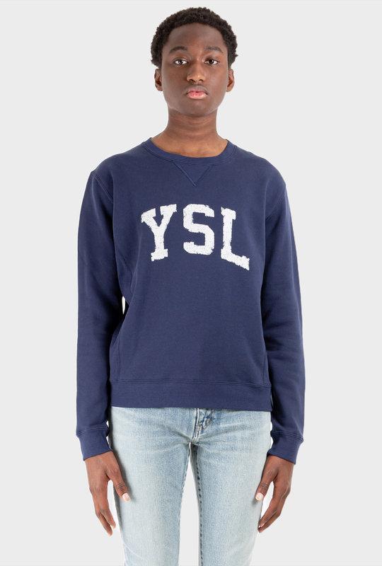 Logo Cotton Sweatshirt Blue