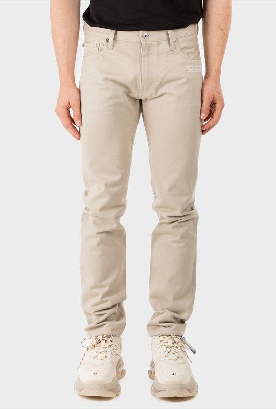 Diag Slim Fit Jeans Beige