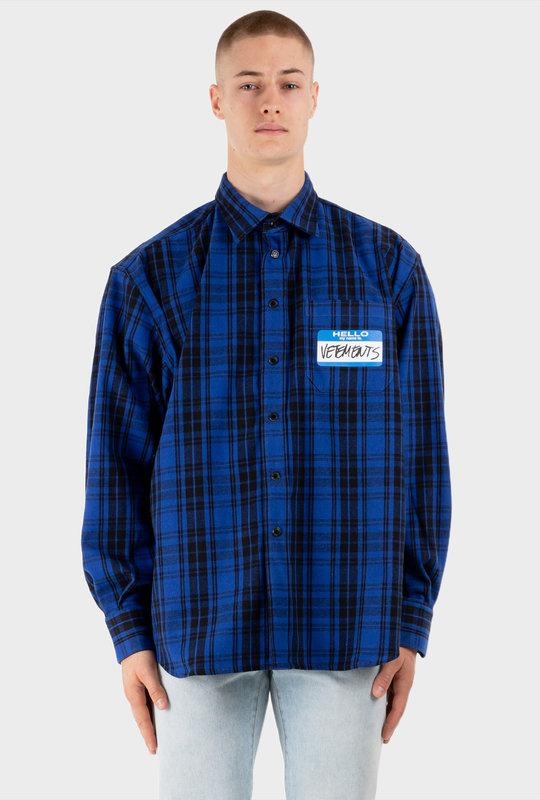 My Name Is Vetements Plaid Shirt Multi