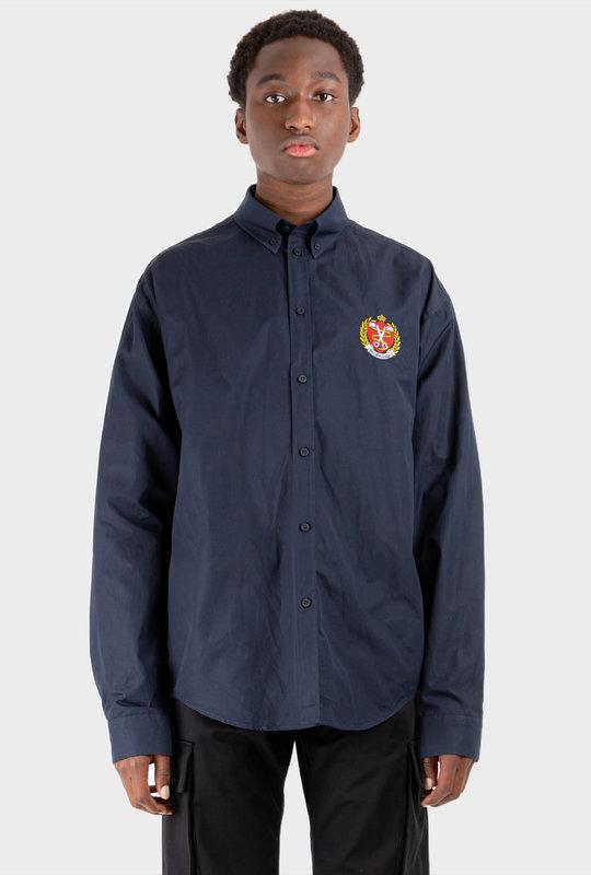 College Large Fit Shirt Dark Blue