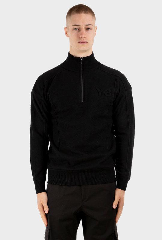 Y-3 Classic Merino Blend Knit Sweater Black