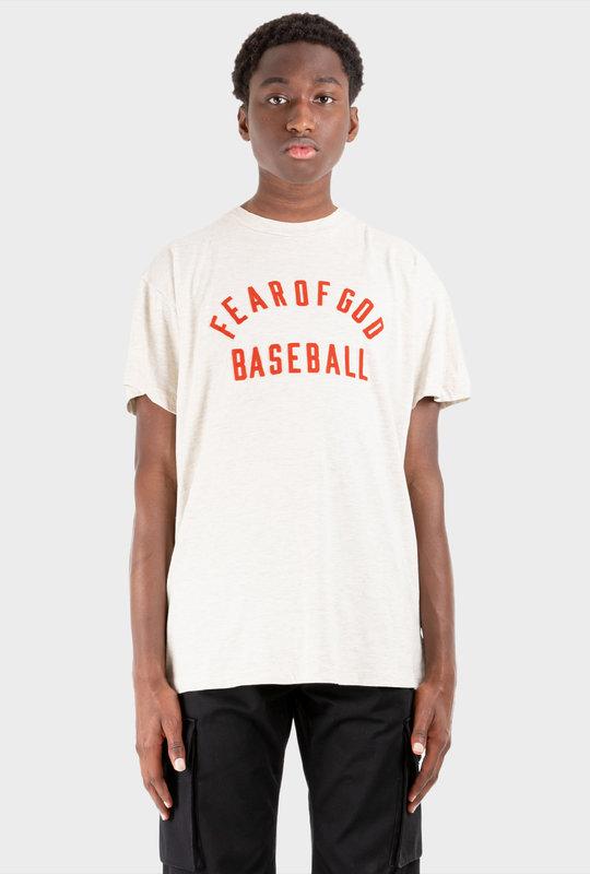 Baseball Logo T-Shirt Cream Heather